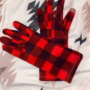 Red plaid gloves!! Super comfy!!